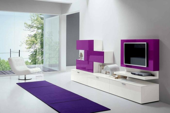 meuble tv blanc moderne