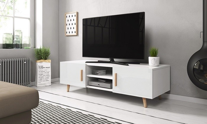 meuble tv moderne blanc