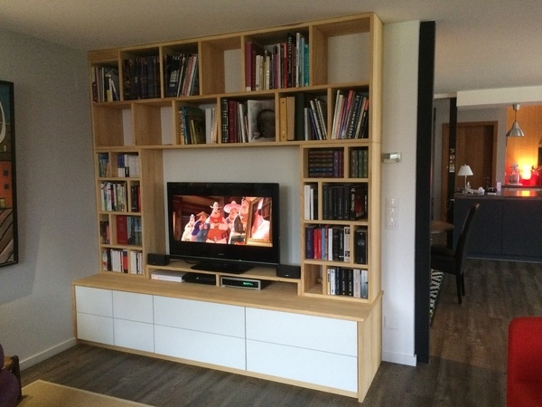 meuble de télé blanc laque
