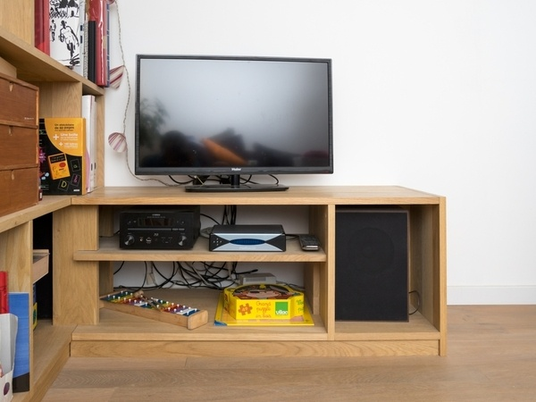 meuble d'angle de télévision