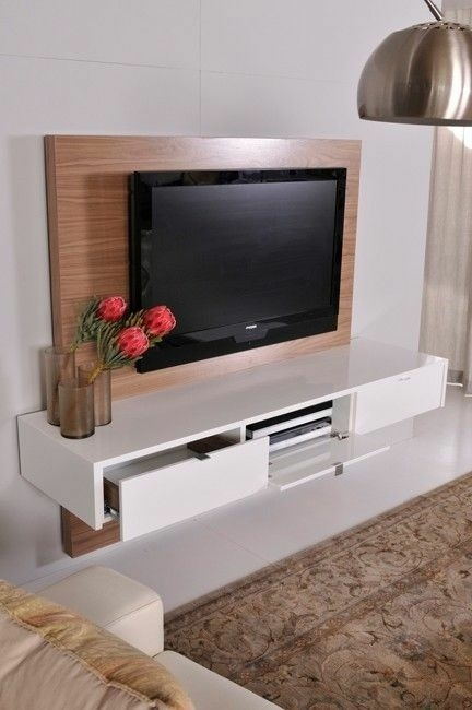 meuble tv suspendu mural